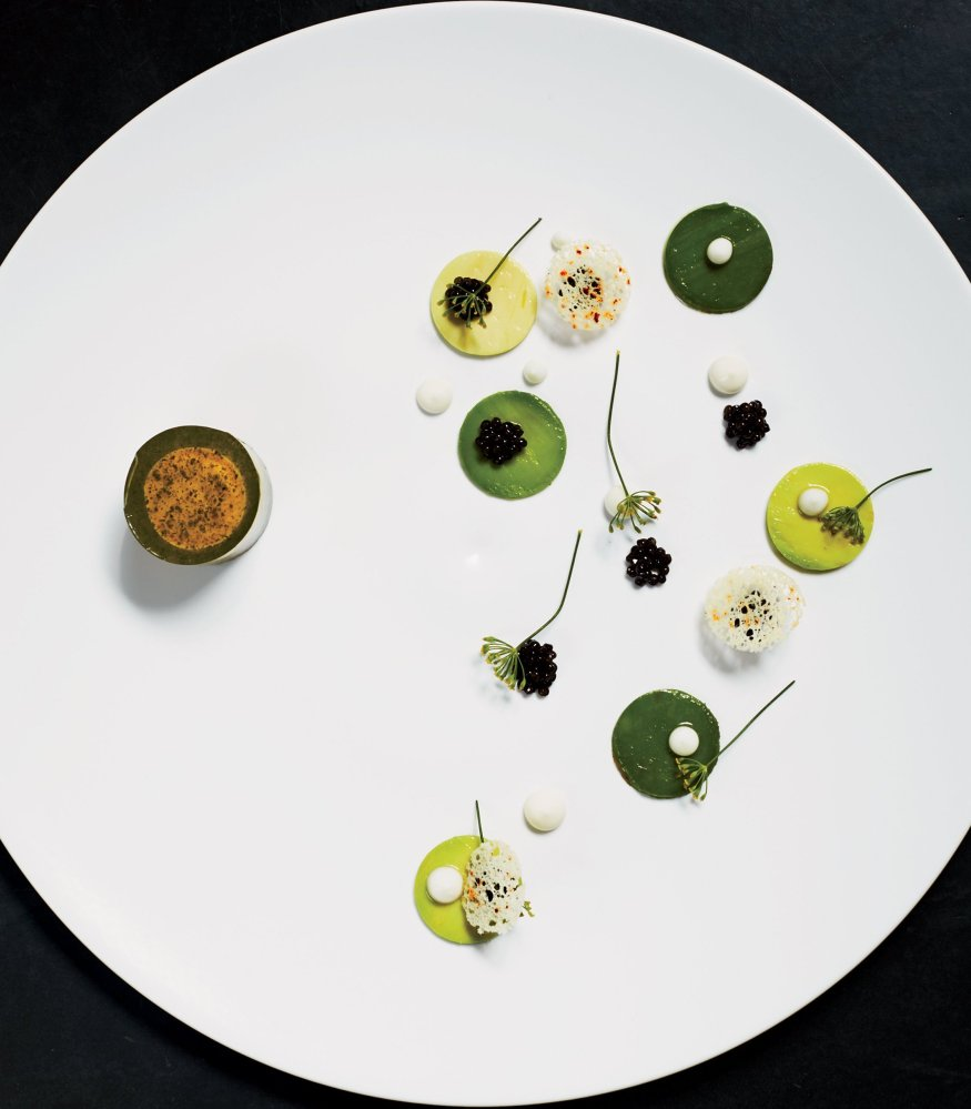 Foie gras with Avocado by chef Paul Liebrandt. © MARCUS NILSSON