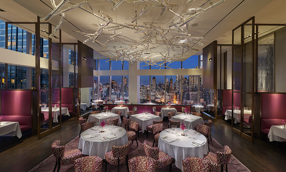 Dining in the manhattan sky the art of plating for Best private dining rooms nyc 2016
