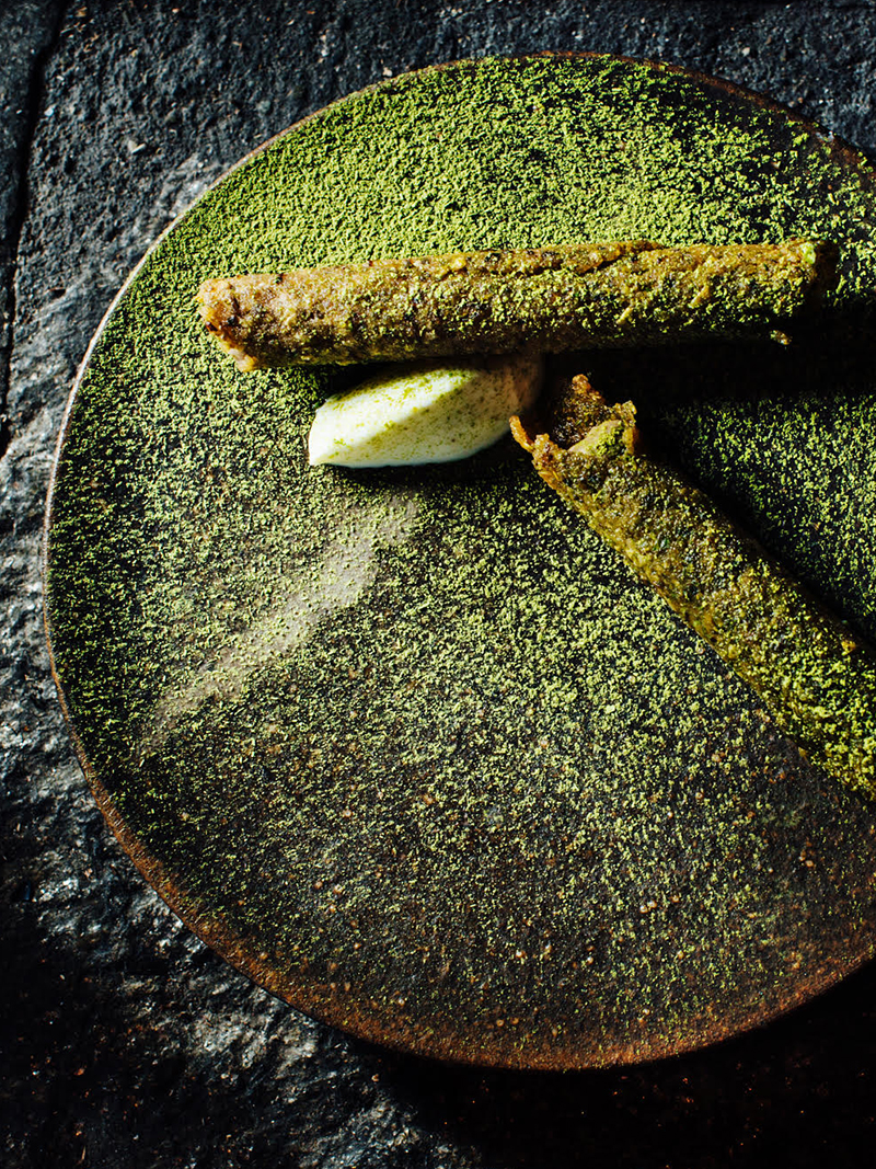 Buckwheat taquito by chef Brady Williams of Canlis in Seattle, WA. ©