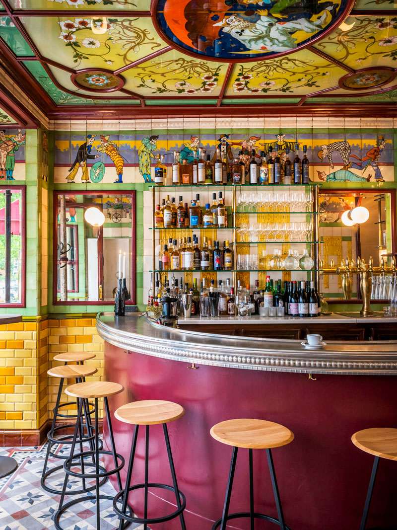 On the road a circus themed bistro in paris art of
