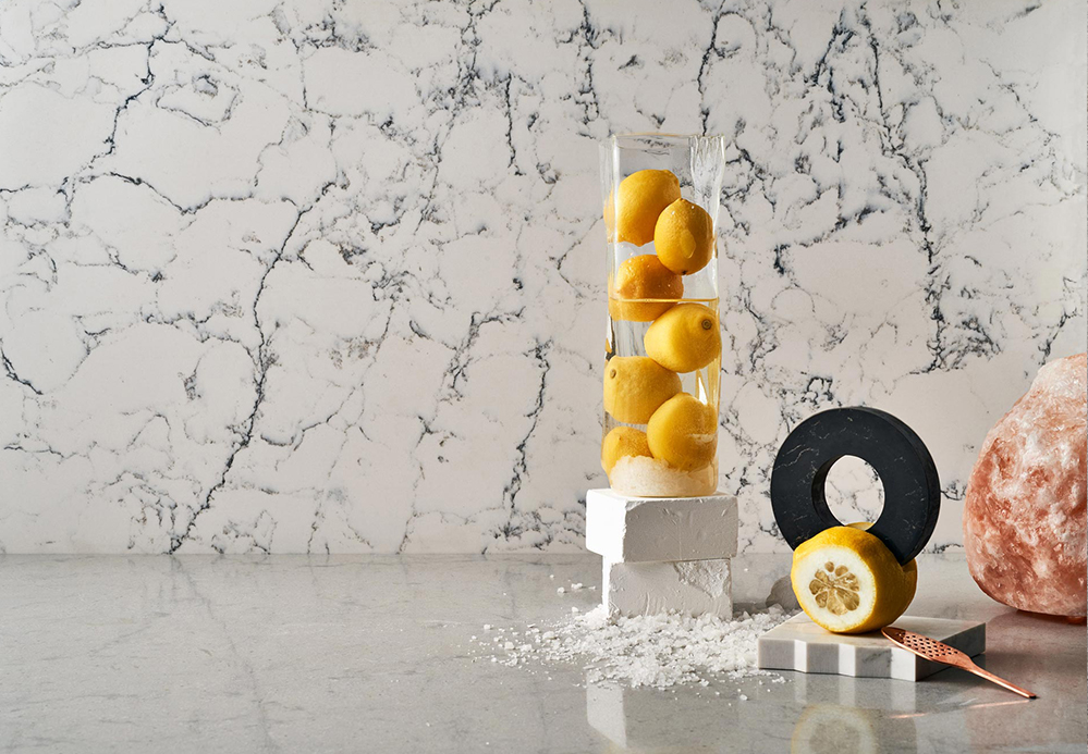 A Material Menu: Designs for the Culinary Aesthetic by Caesarstone, Arabeschi di Latte