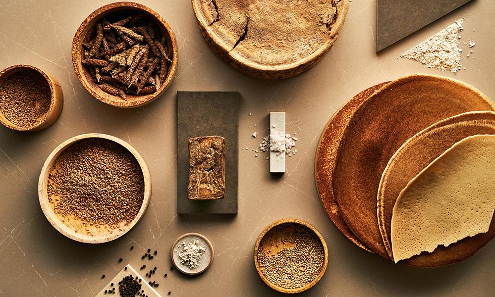 A Material Menu: Designs for the Culinary Aesthetic by Caesarstone, Arabeschi di Latte