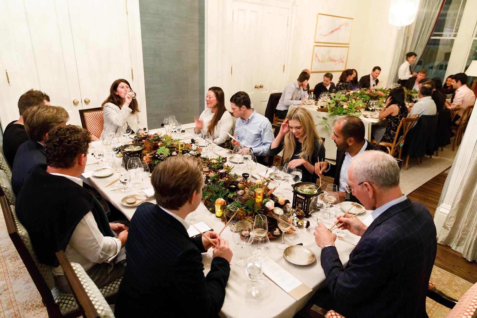 Guests at The Art of Plating x SingleThread x Olivier Bernstein Dinner © Nader Khouri