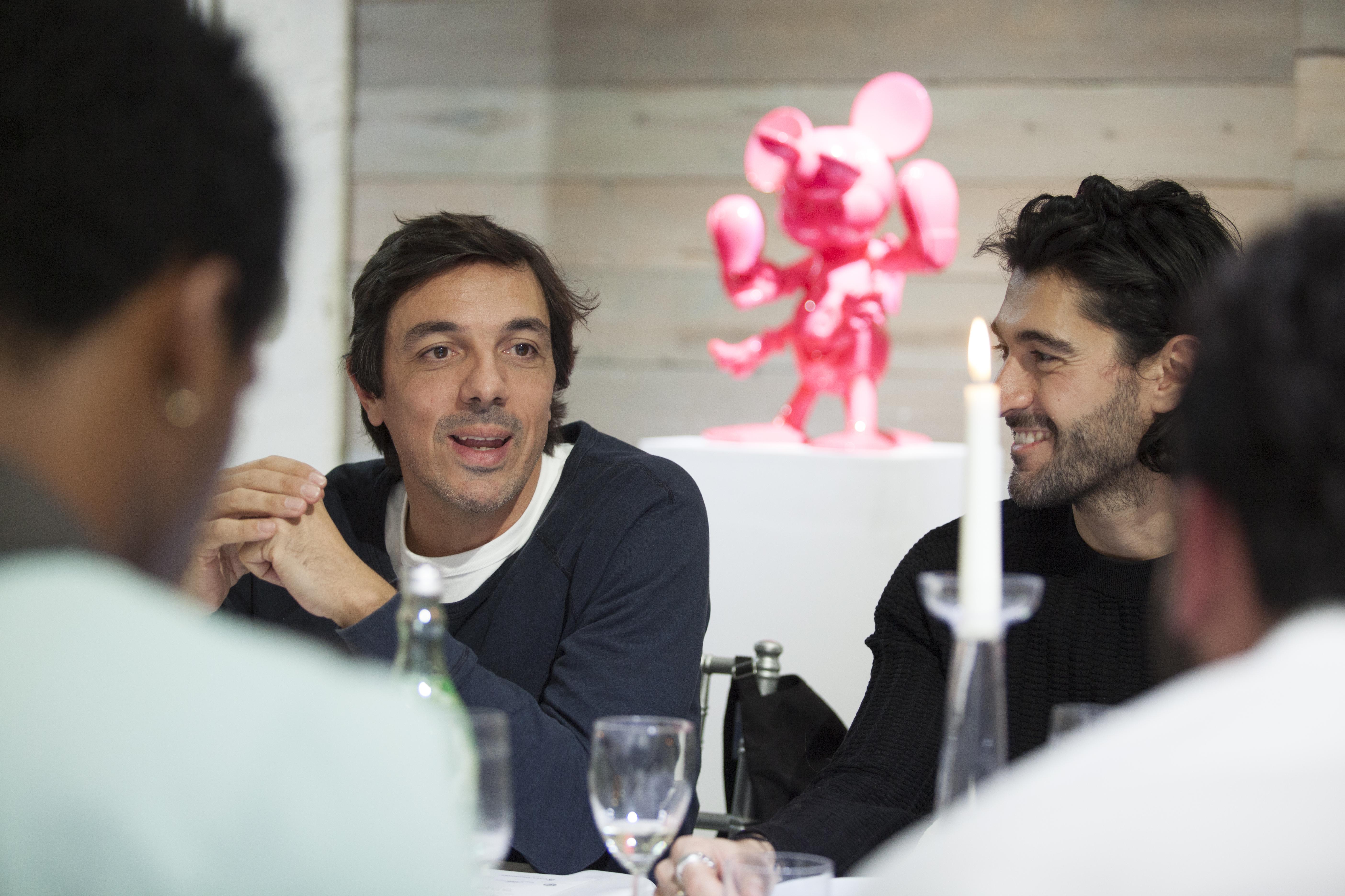 Artist Fidia Falaschetti and Giampiero Tagliaferri © Francesco Camuffo